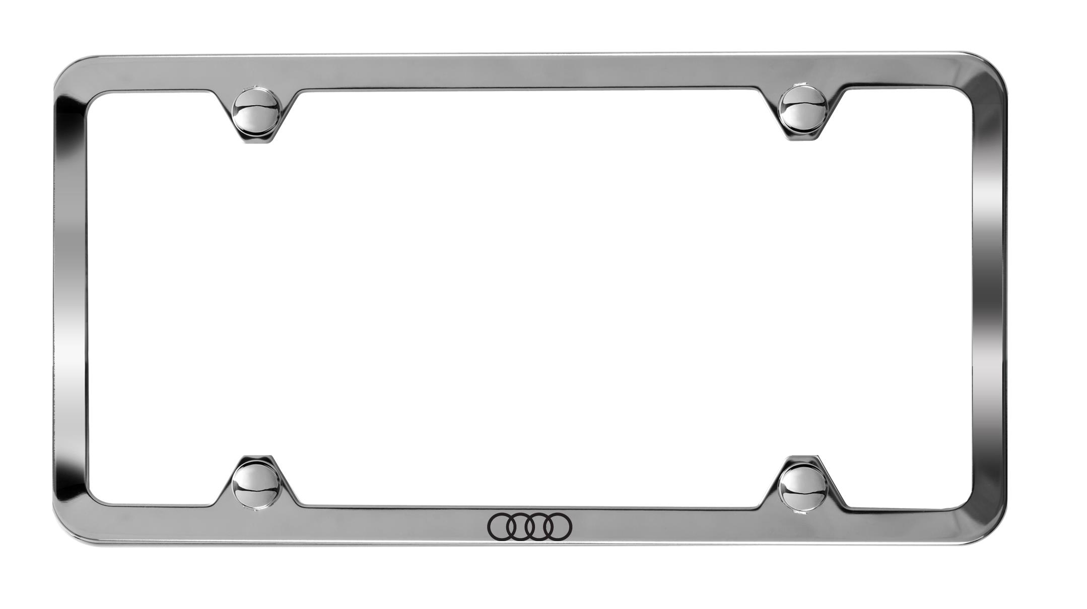 2018 Audi A5 Slimline License Plate Frame With Audi Rings